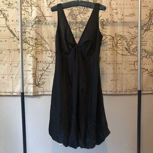 Calvin Klein Black Satin Cocktail Dress